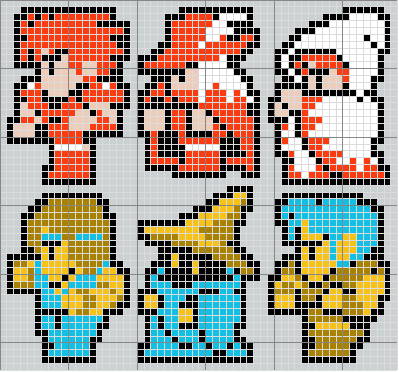 Final Fantasy 1 Cross Stitch Pattern Sprite Stitch