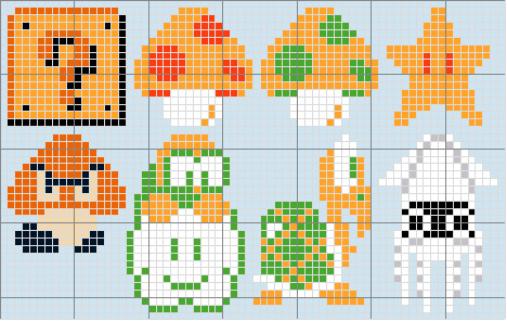 Super Mario Brothers Mini Pattern
