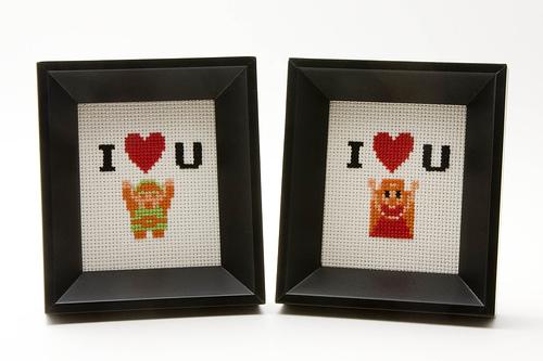 Zelda Valentine's Day Cross Stitch