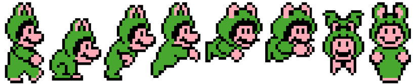 Frog Mario Towels Cross Stitch Pattern Thumbnail