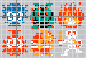 The Legend of Zelda (enemies) cross stitch pattern