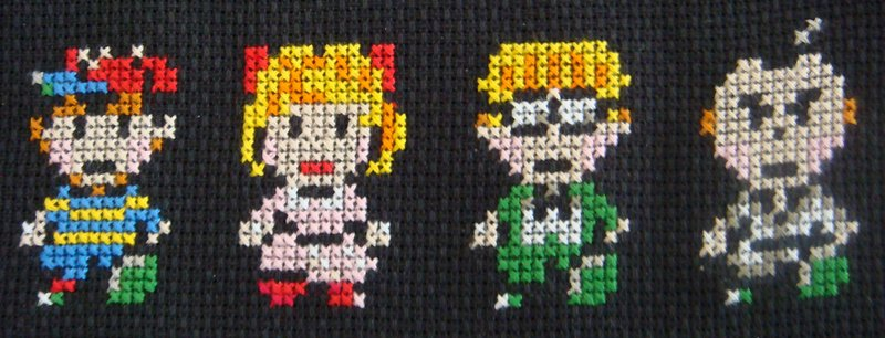 Earthbound cross stitch