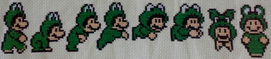 Frog Mario Cross Stitch