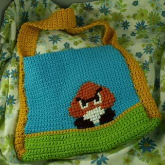 Goomba Crochet Tote Bag