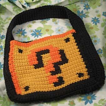 Mario Crochet Tote Bag