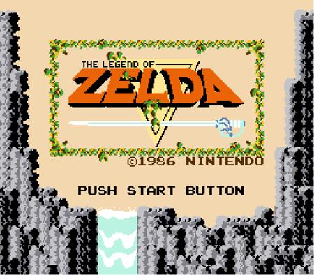 Tela de introdução do jogo original The Legend of Zelda