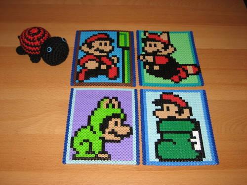 Mario Perler Bead Coasters