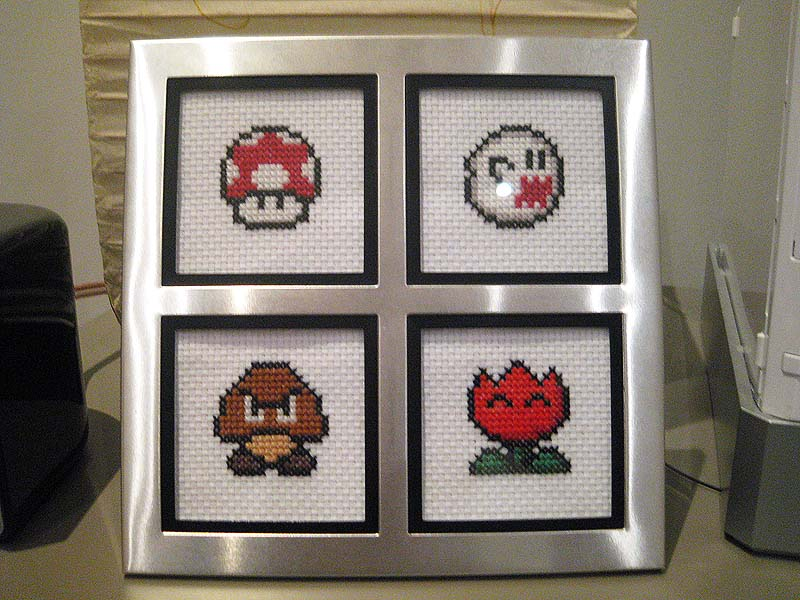 mario misc cross stitch