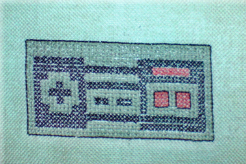 NES Controller Cross Stitch