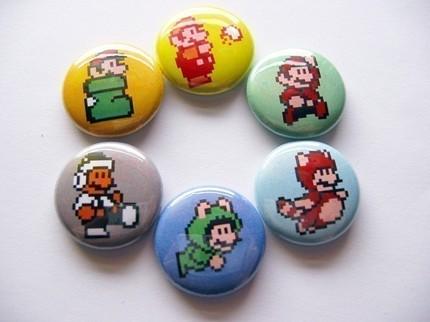 Super Mario 3 Costume Buttons