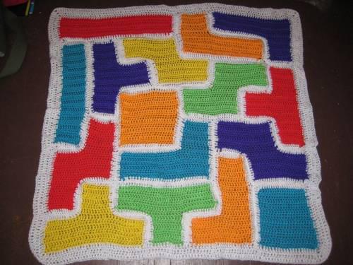Crochet Tetris Baby Blanket
