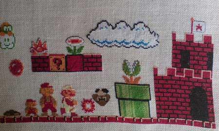 Big Mario Cross Stitch
