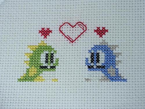 Bubble Bobble Valentine's Cross Stitch