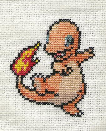 Pokemon Charmander Cross Stitch