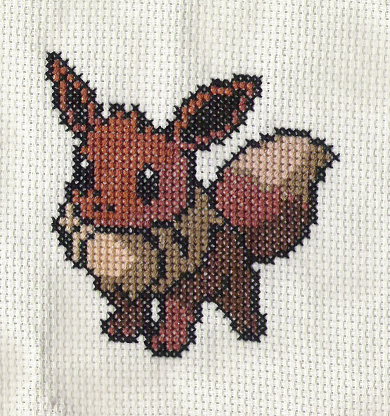 Pokemon EEVEE Cross Stitch