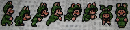 Frog Mario Cross Stitch