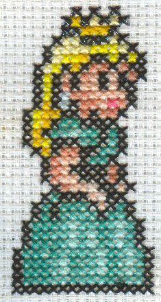 Green Peach Cross Stitch