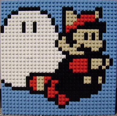 Mario Lego Mosaic