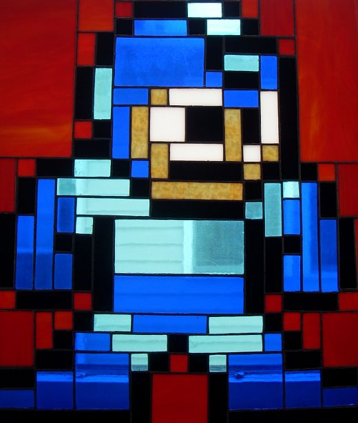 Megaman Stained Glass Window