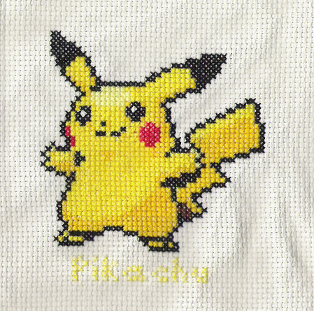 Pokemon Pikachu Cross Stitch