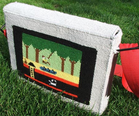 Pitfall Inspired Needlepoint Laptop Case