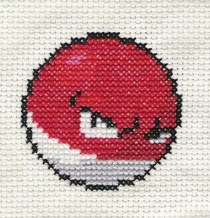 Pokemon Voltorb Cross Stitch