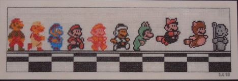 Mario Across the NES ages