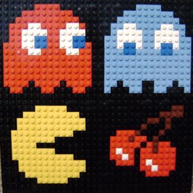 pacman lego mosaic