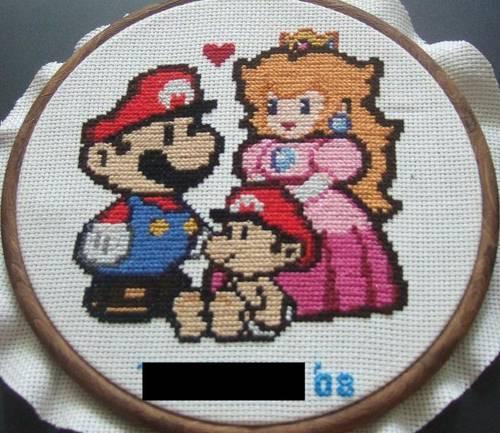 Paper Mario Cross Stitch