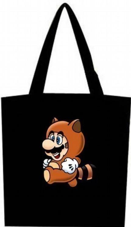 Raccoon Mario Tote