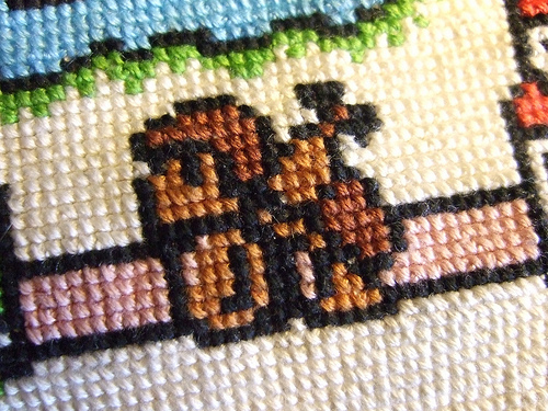 Super Mario 3 Map Cross Stitch Detail