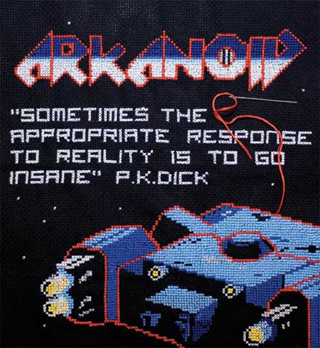 geeky arcade cross stitch