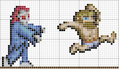 Ghosts n Goblins (arcade) Cross Stitch Pattern