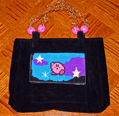 Kirby Cross Stitch Purse