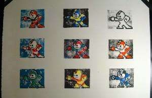 Mega Man Print Colors