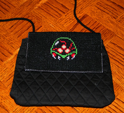 Metroid Cross Stitch Purse