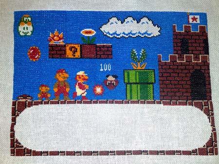 Epic Mario Cross Stitch