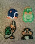 Mario Enemies Perler Beads