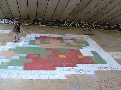 Mario Pixel Graffiti