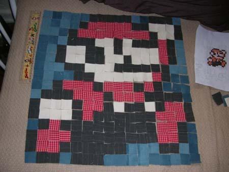 Super Mario Quilted Pillow | Sprite Stitch : mario quilt - Adamdwight.com