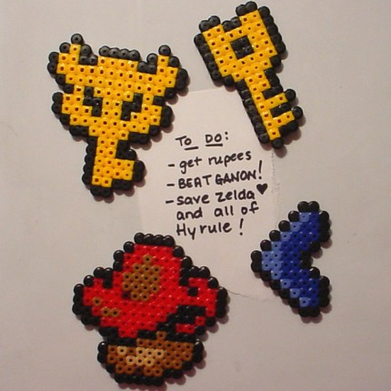 Zelda Perler Bead Magnets
