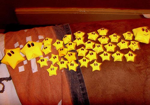 Mario Star Origami and Papercraft