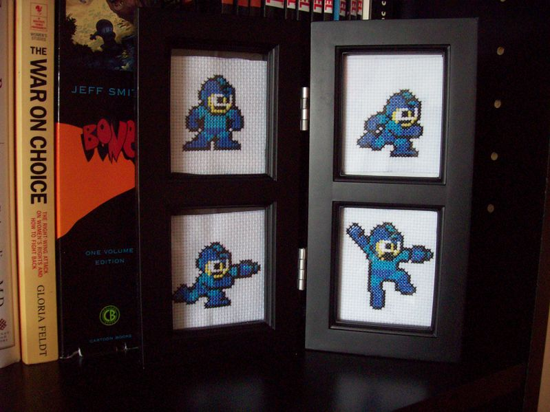 Megaman Cross Stitch