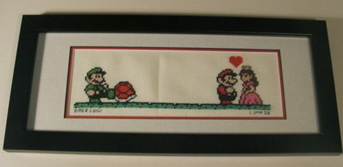 Bitter Luigi Cross Stitch