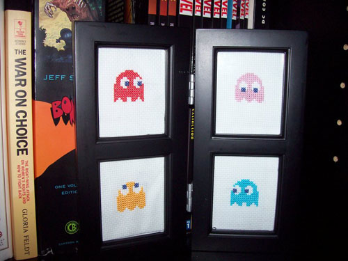 Pacman Ghosts Cross Stitch