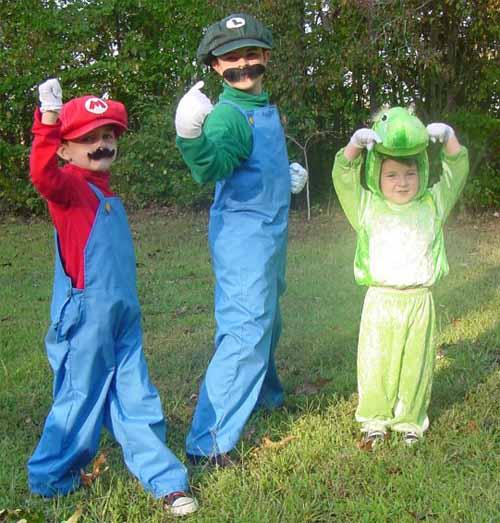 Mario, Luigi, Yoshi Costumes