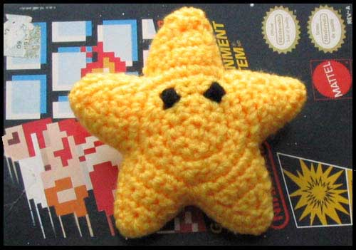 Crochet Super Mario Invincibility Star