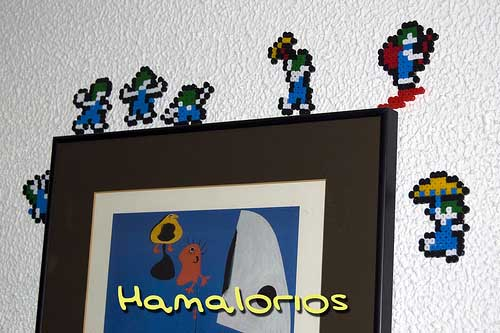 Perler Bead Lemmings