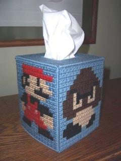 Mario Stitched Kleenex Box 01