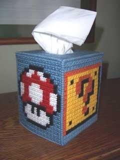 Mario Stitched Kleenex Box 02